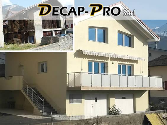 Rénovation, pose de parquet, ravalement de façades, dispersion